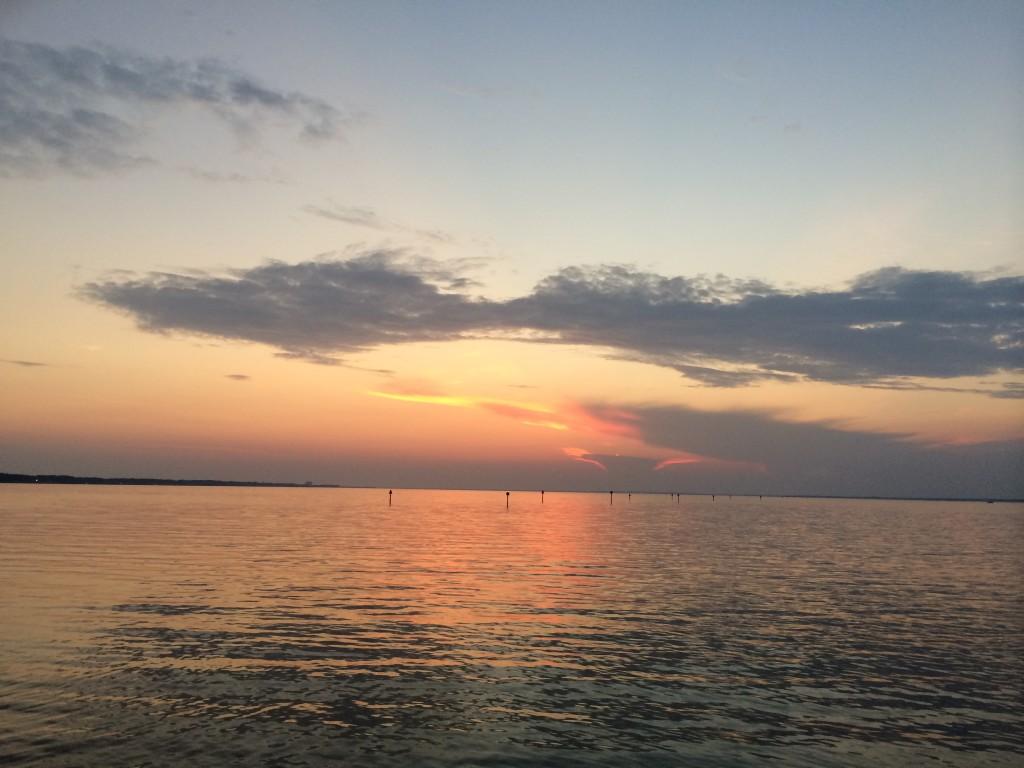 sunset over bay, Destin